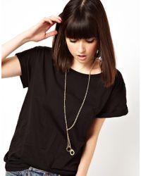 ASOS - Metallic Sleek Handcuff Necklace - Lyst