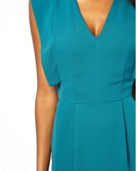 ASOS - Green Pencil Dress With Fold Sleeve Detail - Lyst