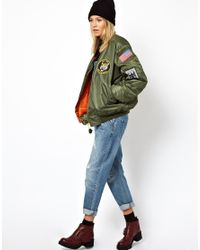 ASOS Green Reclaimed Vintage Original Ma1 Flying Jacket