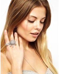 ASOS Metallic Indian Bell Ring Pack