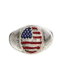 ASOS | Metallic Signet Ring with Stars and Stripes for Men | Lyst