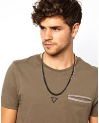ASOS | Metallic Double Necklace with Geo Triangle for Men | Lyst