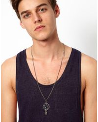 ASOS - Metallic Necklace With Dreamcatcher Charm for Men - Lyst