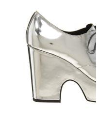 ASOS Metallic Penny Lane Lace Up Platforms