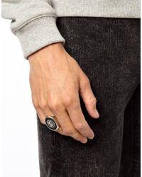 ASOS Metallic Signet Ring with Eagle for men