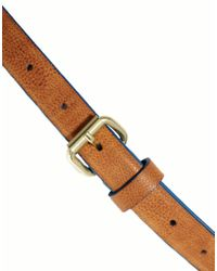 ASOS Brown Skinny Belt with Contrast Edge Paint