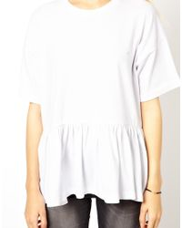 ASOS - Natural Oversized Smock T-Shirt - Lyst