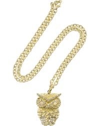 Carolina Bucci | Metallic Owl 18karat Gold Multistone Necklace | Lyst