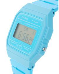 G-Shock F-91wc-2aef Digital Blue Watch