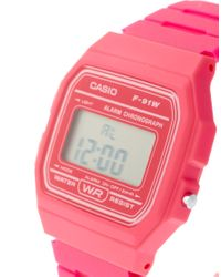 G-Shock F-91wc-4aef Digital Pink Watch