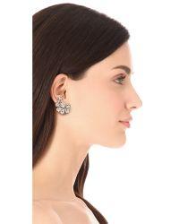 DANNIJO - White Paulina Clip On Earrings - Lyst