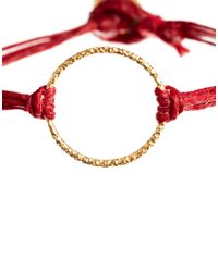 Dogeared - Red Sparkle Karma Linen Bracelet - Lyst