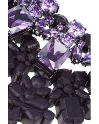 EK Thongprasert Purple Edgewater Silverplated Cubic Zirconia and Silicone Necklace