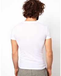 Emporio Armani - White Stretch Cotton Crew Neck T-shirt In Extreme Fitted Fit for Men - Lyst