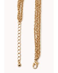 Forever 21 - Orange Show Off Layered Teardrop Necklace - Lyst