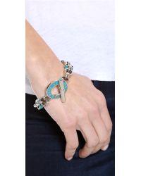 Marc By Marc Jacobs - Blue Enamel Toggle Bracelet - Lyst