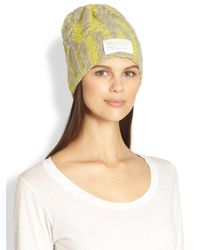 Marc By Marc Jacobs - Gray Chunky Cableknit Hat - Lyst