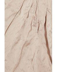 Miu Miu Natural Crinkled Duchesse-Satin Dress