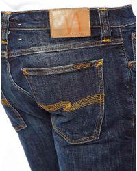 Nudie Jeans Jeans Tight Long John Skinny Fit Blue Iris Wash for men