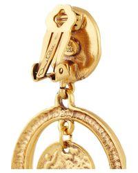 Oscar de la Renta - Metallic Goldplated Coin Clip Earrings - Lyst