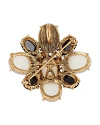 Oscar de la Renta Metallic Cabochon Necklace