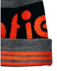 Penfield Orange Sanford Bobble Hat for men