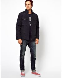 Replay - Blue Quilted Jacket for Men - Lyst