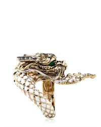 Roberto Cavalli - Metallic Swarovski Dragon Ring - Lyst