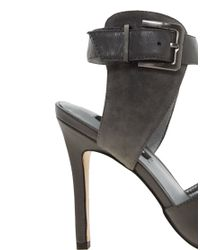 Senso Gray Monica Ankle Strap Heeled Shoes