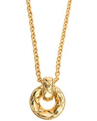 Sonia Rykiel | Metallic Circle Pendant Necklace | Lyst