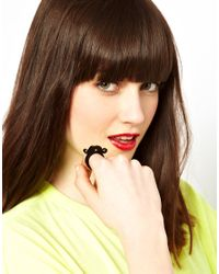 Tatty Devine - Black Moustache Ring - Lyst