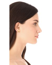 Tory Burch Metallic Sylbie Simple Butterfly Stud Earrings
