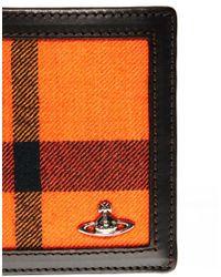 Vivienne Westwood Orange Tartan Billfold Wallet for men