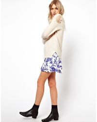 ASOS White Lace Back Sweater in Angora