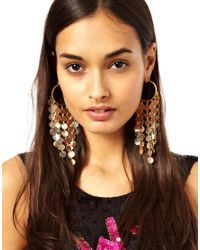 ASOS Metallic Disc Hoop Earrings