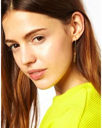 ASOS | Metallic Wear That There Sterling Silver Gold Plated Fly Away Mini Drop Earrings | Lyst