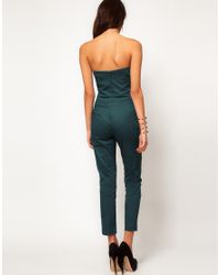 ASOS Black Jumpsuit With Pleat Bust Origami Detail
