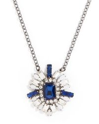 BaubleBar - Blue Sapphire Rococo Pendant - Lyst