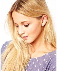 Daisy Knights - Metallic Anchor Stud Earrings - Lyst