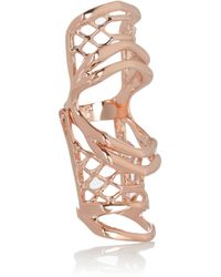 Dominic Jones - Pink Leviathon Hinged Rose Gold-Plated Ring - Lyst