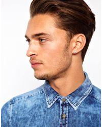 Emporio Armani - Metallic Eagle Stud Earrings for Men - Lyst