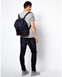 French Connection Blue Backpack for men