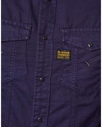 G-Star RAW Blue Shirt Md Rock for men