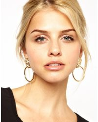 Kenneth Jay Lane | Metallic Lion Head Door Knocker Earrings | Lyst
