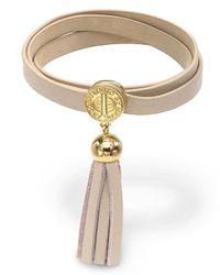 Marc By Marc Jacobs - Brown Triple Wrap Leather Bracelet - Lyst