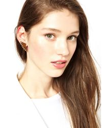 Maria Francesca Pepe - Metallic Thorn Shaped Earrings - Lyst