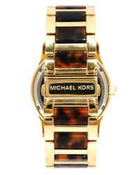 Michael Kors Metallic Runway Gold and Tortoise Shell Watch