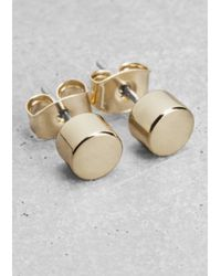 & Other Stories - Metallic Stud Earrings - Lyst