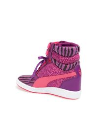 PUMA | Pink Sky Wedge Reptile Sneaker | Lyst