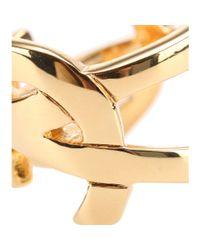 Saint Laurent Metallic Monogram Ring